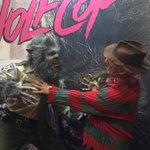 RT @AmberlightPR: @WOLFCOPTheMovie vs #FreddyKrueger battling it out at the @AnchorBayCanada booth at @FanExpoCanada http://t.co/BcdXokwbuZ