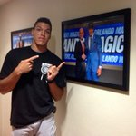 Always good to have @IamAaronGordon back in Tucson! AG got to see his new picture in the basketball offices. http://t.co/MSDiXWMTds