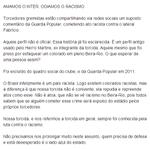 RT @PopularOficial: AMAMOS O INTER. ODIAMOS O RACISMO. http://t.co/BHuTooZoAJ