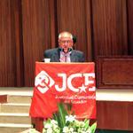 c. Agustín Basantes destaca el papel de la @jcecuador_org para fortalecer al Partido Comunista Ecuatoriano. #JCE85 http://t.co/qUpAeclIGc