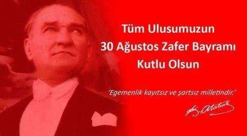 30 AĞUSTOS ZAFER BAYRAMIMIZ KUTLU OLSUN ! #30AğustosZaferBayramı http://t.co/5BFpwxcvej