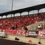 A sea of red in the stands for the Katy vs Kingwood season opener at Turner Stadium. http://t.co/xUvoWA8NZn