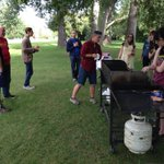 A lovely night for #campfYrefly volunteer appreciation BBQ in #yyc park. @YYCsexualhealth A night of #pride begins. http://t.co/1FwVl3uJ5u