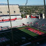 UofA stadium before the season opener http://t.co/TfRIwzdt4Y