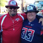 Love #ArizonaWildcats fans who wear firefighter lids. KOLDCats. UAvsUNLV Gameday. http://t.co/3DIlL8Tw9Z