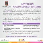 Calendario para el registro de los alumnos de Nivel Superior a la #BecaSalario. #Morelos http://t.co/NA03chzfyW http://t.co/C9KH3O6GGa