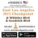 RT @MrCheckpoint: NOW East #LosAngeles DUI Checkpoint Whittier Blvd & Goodrich Blvd #NODUI #LA #Labor... http://t.co/ELM0RitpH8 http://t.co/yaDw80neRp