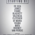 #mufc starting XI: De Gea, Jones, Evans, Blackett, Valencia, Young, Fletcher, Di Maria, Mata, Rooney, van Persie. http://t.co/3hrmnV6NLT