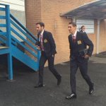 RT @Football__Tweet: Ángel Di María arrives at Turf Moor with Juan Mata. Both start for Manchester United today. #MUFC http://t.co/CpgRbPxT1g
