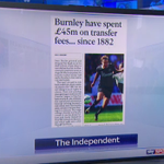 PAPERS: Burnley have spent £45m on transfers since 1882, #MUFC have spent £59m this week. http://t.co/dncQMTkq6c