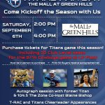RT @TennesseeTitans: Join us one week from today at The Mall of Green Hills for #Titans Fan Day! http://t.co/a8mJ5Jry7P