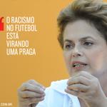 .@dilmabr classificou como grave o racismo sofrido pelo goleiro Aranha, em Porto Alegre. https://t.co/I5XVG4OyEu http://t.co/V5f5cTozzY