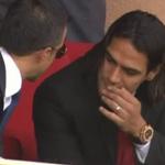 Radamel Falcao en tribune pour assister à Monaco-Lille ! http://t.co/hPdn7QL2O7