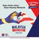 Saya Anak Johor, Saya Sayang Malaysia #MuafakatJohor #JDT01 #Merdeka57 #DiSiniLahirnyaSebuahCinta http://t.co/EXsvbidGlF