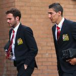 RT @ManUtd: PIC: Angel Di Maria, who makes his Reds debut today, arrives at Turf Moor with team-mate @JuanMata8. #MUFClive http://t.co/6JkClMhNnG
