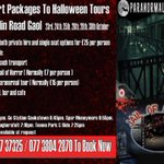 RT @QuinnsCoachHire: Retrun transport & both halloween tours at @CrumlinRoadGaol from Mid Ulster http://t.co/bkUlRObUPP