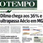 """RT @rogeriocorreia_: #Dilma13DeNovo ultrapassa Aécio em MG. 10 ptos de frente. http://t.co/4cNM7pLXRD"""""""