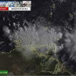 via @Meteovargas: Imagen HD con detalles de extenso sistema nuboso que afecta a Sucre/NvaEsparta. Lluvias/tormentas http://t.co/V7kQ7a3uhj