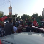Pti car rally against election rigging RT @DrAwab: Azadi car rally at teen talwar http://t.co/Nu2d0MgAon #AzadiMarchPTI