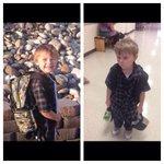اب يصور ابنه قبل وبعد أول يوم دراسي. http://t.co/cidMGZi0yd