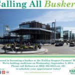Calling all #buskers! Are you interested in becoming a busker at the #Halifax Seaport Farmers' Market? http://t.co/pre7Eyk1Ht
