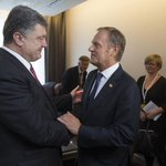 RT @PremierRP: FOTO z #Bruksela: spotkanie @premiertusk z prezydentem #Ukraina @poroshenko --> https://t.co/vdyQI9GusQ http://t.co/YtncfhARrT