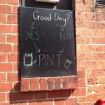 Some great life philosophy on a blackboard courtesy of The Three Tuns @FatherSpartacus #sheffield http://t.co/y56XblAlTO