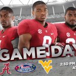 RT @AlabamaFTBL: The wait is over. Game day has arrived! #RollTide #CFAKickoff #WVUvsBAMA http://t.co/QrLP6zhnsS