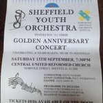 Tickets on sale for our 50th anniversary concert. Email syoat50@gmail.com for tickets. #sheffieldissuper #sheffield http://t.co/JfdWi6Znf6
