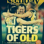 RT @jtate_heraldsun: Theres nothing bigger than Tigers. Sunday Herald Sun Page 1. #aflswanstigers @Richmond_FC @RalphyHeraldSun http://t.co/K0SE8ZPuh6