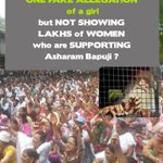 Girl 18+ Y POCSO? Women r supporting Bapujis INNOCENCE, still He is in jail! #WillMediaCoverNariShaktiRally4Bapuji http://t.co/wxjrLdo7pg