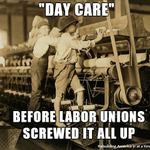RT @rankandfileca: Day care before unions screwed it up | #canlab #cdnpoli #childcare #daycare http://t.co/uOGpjW1Nls