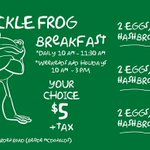 RT @FickleFrogPub: Start the weekend off right! Classic Breakfast $5.00 + tax. Served 10am-3pm, Saturday & Sunday.#Halifax http://t.co/VjiQ3KYyts