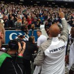 "James Franklin bellows ""We Ares"" at his adoring #PennState fans after the @CrokePkClassic victory. http://t.co/ZnD5vuwtUd"
