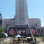 #MadeInAmerica stage is set. Lets show the world how Los Angeles can throw a world class party.. http://t.co/abx1DxVBm8
