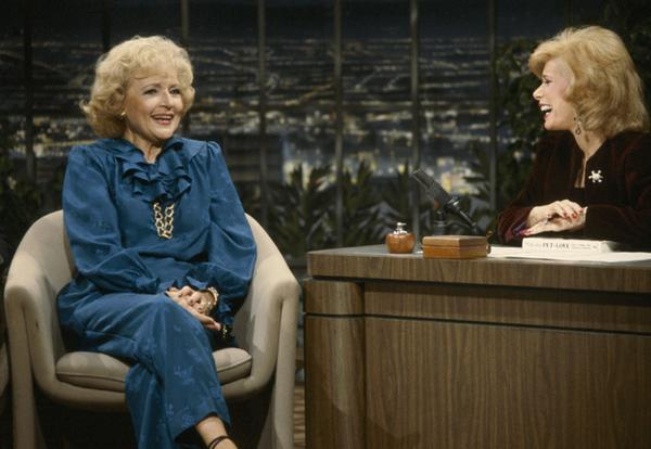 Here's a picture of Betty & Joan Rivers on Joan's talk show in the 1980's. Prayers for Joan! ❤️ http://t.co/n8YCKZb7yM
