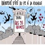 RT @Alexdessinateur: Mon dessin dans le @Courrier_picard du 30.08.2014 : Cest le bordel annuel à la #Rochelle ! #UEPS2014 http://t.co/FnStIwhsxJ