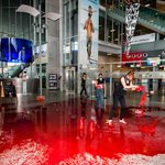 RT @jncatron: No weapons for Israel! Protest group pours fake blood in Belgium airport http://t.co/3zHzh3JbVm via @RT_com #BDS http://t.co/6LNlezNCWN