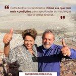 RT @ptbrasil: Lula já disse, candidato Aécio. Mudança segura é com @dilmabr! #DilmaNaTVdia6 http://t.co/p0Qi8YM1MD