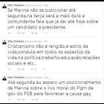 RT @cynaramenezes: quer dizer que houve chantagem do malafaia e marina mudou programa em relação aos gays? péssimo (via @LouCarolinePE) http://t.co/Zs60lx5pQZ