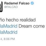 RT @EurosportCom_FR: #Falcao tweete son départ pour le Real Madrid… puis retire aussitôt son message ! http://t.co/ADKAMD8Riv