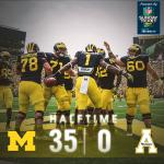 """@umichfootball: Michigan leads 35-0 at the half. #GoBlue http://t.co/P2SVfTmfMp"" @OhioStAthletics"
