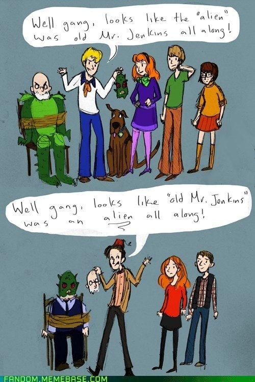 This is perfect. The difference between Doctor Who and Scooby Doo. #DrWho #DoctorWho http://t.co/sYS9KvNMJ1