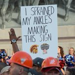 Top 10 funniest #GameDaySigns from FSU/Ok. State: http://t.co/xkI7QjDz18 #3 Heroic sign: http://t.co/yIPgkkNra3