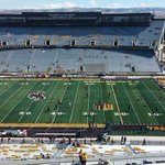War Memorial Stadium in Laramie is now officially Griz Country! Share your pics with #GRIZvWYO http://t.co/x9LSt9SETu