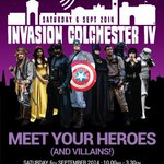 RT @InvColchester: #fundraising #Colchester #Essex #DoctorWho #Starwars #Ghostbusters #Zombies #Heros #Villains #TV #Film #Cosplay http://t.co/AiGseh0erY