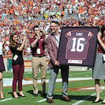 RT @VT_Football: Virginia Tech recognizes at @VTSandsman before the start of the #WMvsVT game http://t.co/HgAP1ju7Ef