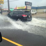 More pictures of water covering roads near Louisville Ave in Monroe #LAwx (courtesy Kimberly H). http://t.co/fCDYoMhPwe