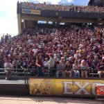 RT @UMGRIZZLIES_FB: Great turnout from #GrizNation! RT if you are there! #GRIZvWYO http://t.co/s4PkNSf2EY