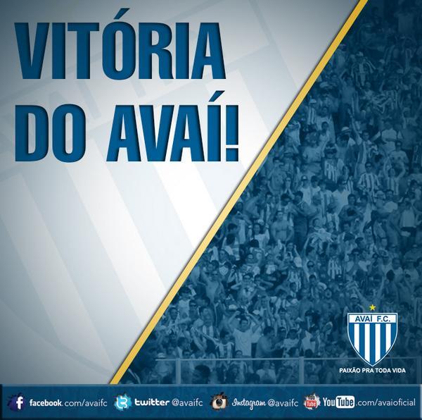 Final de partida no Estádio de São Januário! Vitória espetacular do Leão! @crvascodagama 0 x 5 @avaifc http://t.co/7EcY1KiEnp